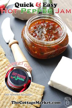 Do you love Hot Pepper Jam? Do you also love quick and easy recipes? If you answered yes yes...you have to come and check out this recipe for Hot Pepper Jam