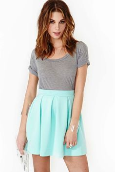 Scuba Skater Skirt - Mint | Nasty Gal <3