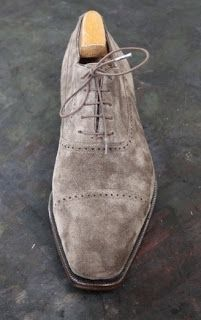 Riccardo Bestetti Suede Oxford  http://www.theshoesnobblog.com/