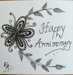 Wish happy anniversary with Zentanhle tile.