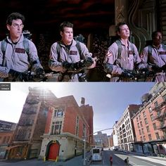 Ghostbusters-final Cinema Architecture, Ghostbusters Firehouse, Good Will Hunting, Drive In Theater, Forrest Gump, Bus Stop, Back To The Future, Filming Locations, Street View