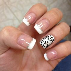 I like the idea of french tip with a solid ring finger color! Then you could put that same solid color or pattern on your toes