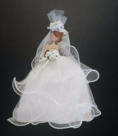Handmade-Shabby-Chic-Bride-Gown-Lace-Dress-Wedding-Paper-Doll-by-Becky