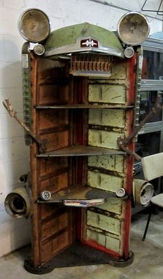 Cool as hell shelf created by Steve Darnell exclusively for The Funk House! Than… - Upcycled Home Decor