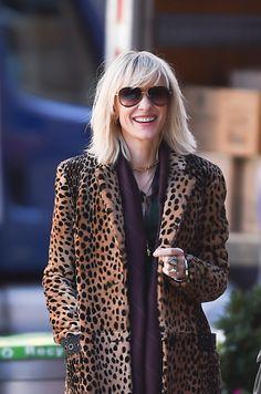 Cate Blanchett on the set.   Sandra Bullock and Cate Blanchett Are Having the Best Time Shooting Ocean's Eight   POPSUGAR Entertainment