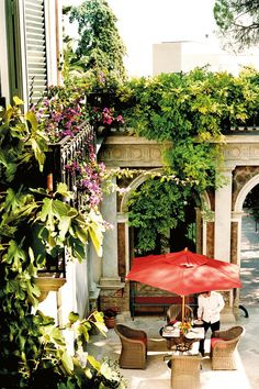 Palazzo Margherita in Bernalda, southern Italy - the palacial retreat and hotel of film director Francis Ford Coppola