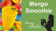 Refreshing Mango Smoothie. @BlenderBabes www.blenderbabes.com #vitamix #blendtec #recipe #mango #smoothie