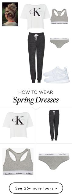 """""""#MyCalvins"""" by meredith-gomes on Polyvore featuring Calvin Klein, Topshop, NIKE, lounge and mycalvins"""