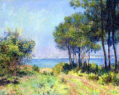 1882; Claude Monet / Les sapins a Varengeville