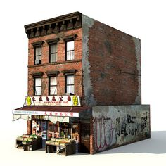 Chinatown Market Building Model available on Turbo Squid, the world's leading provider of digital models for visualization, films, television, and games. 3d Building Models, Train Info, Building Exterior, Sims House, City Buildings, Model Trains, Miniatures, Marketing, Fallout