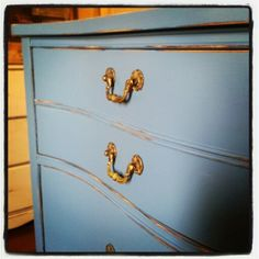 Distressed in blue Chic Shop, Country Chic, Dresser, Blue, Shopping, Furniture, Home Decor, Powder Room, Decoration Home