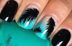 Uñas decoradas marineras, .   #coloresuñas #nails #uñasvistosas