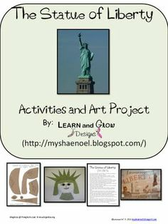 Learn and Grow Designs Website: Statue of Liberty Art Project, Mini Unit Printable, Naming Liberty, and All Things Wonderful Link-Up Kindergarten Social Studies, 5th Grade Social Studies, Homeschool Kindergarten, Teaching Social Studies, Homeschooling, Abc Education, Patriotic Symbols, American Symbols, American History