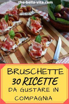 Bruschetta, Italian Appetizers, Cooking Recipes, Healthy Recipes, Food Platters, Savory Snacks, I Foods, Italian Recipes, Brunch