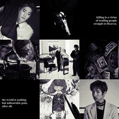 """NCT Jaehyun & Renjun - """"Killing is a virtue of sending people straight to Heaven. The world is nothing but unbearable pain, after all. You Lied, Jaehyun, Mood Boards, Fanfiction, Nct, Singing, Heaven, Challenges, Kpop"""