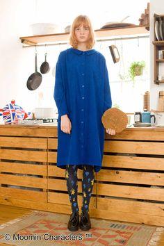 すとんとかわいい、シルエット。|後ろ姿がキュートな ぬき衿ワンピース〈ブルー〉 Syrup, Shirt Dress, Shirts, Shopping, Dresses, Fashion, Vestidos, Moda, Shirtdress
