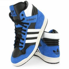 Adidas Originals Conference Hi Top blue adult lace up basketball trainers G95982