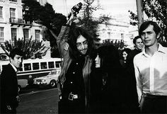 John Lennon with Yoko Ono and Magic Alex in Athens, Greece
