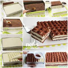 How to make Tiramisu Recipe (with Cake)? Illustrated explanation of Tiramisu Recipe (with Cake) in t Sweet Recipes, Cake Recipes, Dessert Recipes, Pasta Cake, Tasty, Yummy Food, Delicious Recipes, Sweet Sauce, Turkish Recipes