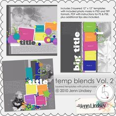 blended photo templates