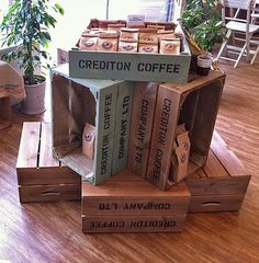 Personalised crates for point of sale, retail display escaparates, diseño d