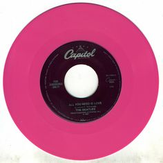 vintage pink 45 record :: if only i had a turntable and a tuner...analog beats digital, it does, try test it! : D