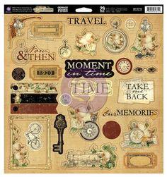 Time Traveler Self-Adhesive Chipboard - Prima