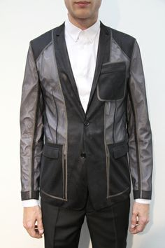 Dior Homme has the best see through blazers.
