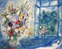Marc Chagall (1887-1985) Bouquet près de la fenêtre (1959-1960) oil on canvas 120 x 149.8 cm
