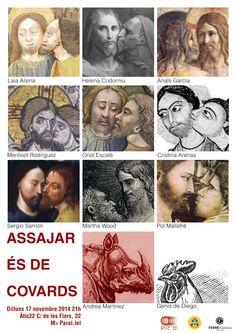 Cartell de Genís de Diego per Assajar és de Covards