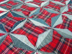 Denim Stars Quilt Pattern by quiltedsunshine on Etsy