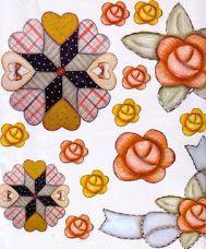 Flores em patchwork