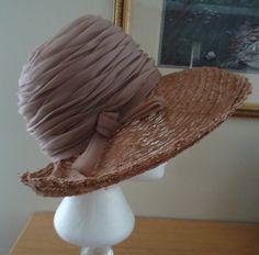 Vintage 1960s Ellen Faith Paris New York Beige Organdy Trimmed Hat on Etsy, $93.23 CAD