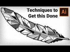 How to draw Geometric Feather in Adobe Illustrator | Illustrator Tutorial - YouTube
