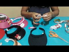 Como customizar viseira infantil - YouTube Felt Crafts Diy, Hat Crafts, Sewing Crafts, Sewing Projects, Hat Patterns To Sew, Dress Sewing Patterns, Painted Hats, Gold Hair Accessories, Hat Tutorial