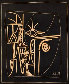 """felixinclusis: """"reumar: Pablo Picasso, Tete (Head), Color Linocut 25 ¼ in x 20 in cm x 53 cm) Numbered from the edition of 50 in pencil in the lower left margin. Created in this linocut is hand-signed by Pablo Picasso (Malaga,. Pablo Picasso, Kunst Picasso, Art Picasso, Georges Braque, Cubist Movement, Art Moderne, Art Graphique, Henri Matisse, Art Plastique"""
