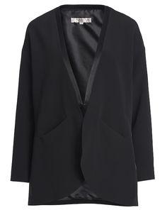 French Connection Blazer mit Glanz-Paspel - schwarz Jetzt auf kleidoo.de bestellen! #kleidoo #blazer #schwarz #black #fashion
