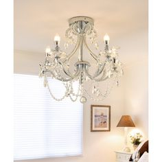 Modern Design 5-Light Decorative Crystal Chandelier Lamp by Ola Living