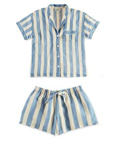 Sleepy Jones Marina Short Sleeve Pajama Shirt and Paloma Pajama Short