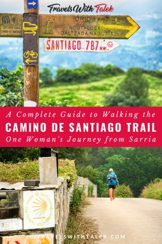 Learn all about walking the Camino de Santiago trail, including training for it, all the different routes and distances, packing tips, where to find the best food, and more. Learn from one woman's journey on the Camino de Santiago trail from Sarria to Santiago de Compostela. #spain #europe #camino #adventuretravel #travel