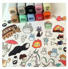Studio ghibli art felt tips