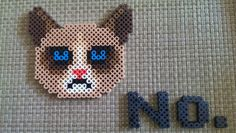 Grumpy Cat perler bead sprite