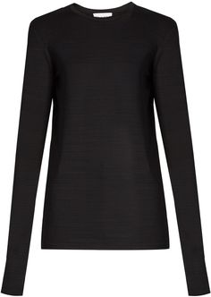 RAEY Long-sleeved slub-jersey T-shirt Stylish, Tees, Blouse, Long Sleeve, Sweaters, T Shirt, Black, Women, Fashion