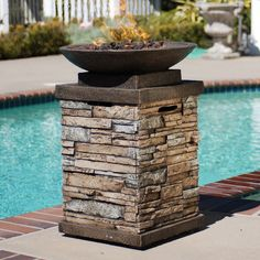online shopping for Newcastle Polyresin Propane Fire Column Bond Manufacturing from top store. See new offer for Newcastle Polyresin Propane Fire Column Bond Manufacturing Fire Pit Bowl, Fire Bowls, Fire Pits, Living Pool, Outdoor Living, Terrazas Chill Out, Newcastle, Gas Fire Pit Table, My Pool