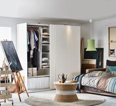 PAX Wardrobe, white, Hasvik white, 78 Find out Dressing Pax Ikea, Ikea Pax Wardrobe, White Wardrobe, Wardrobe Storage, Wardrobe Wall, Bedroom Wardrobe, Pax Planer, Armoire Ikea
