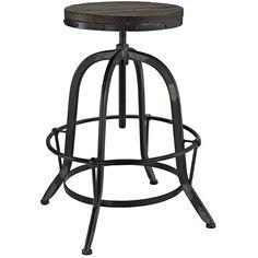 Amazon.com: LexMod Collect Wood Top Bar Stool, Black: Kitchen & Dining
