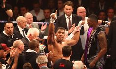 After Chris Eubank Jr had earlier beaten Gary O'Sullivan by TKO, Anthony Joshua eventually finished off a battling Dillian Whyte with a seventh round knockout