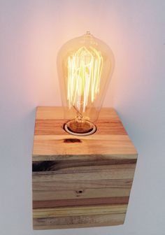 Reclaimed Pallet Wood Lamp by Streetwood on Etsy