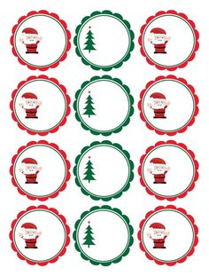 Étiquettes gratuites de Noël à coller sur les cadeaux