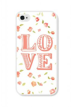 *love* this floral phone case, available for both iPhone 4 & 5